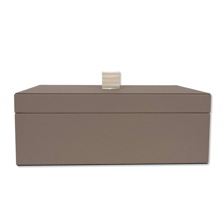 Italian Brown Box with Lid For Sale