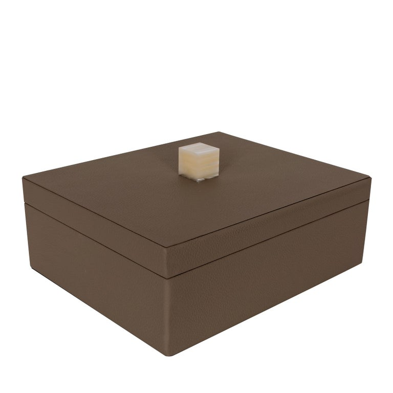 Brown Box with Lid In New Condition For Sale In Milan, IT