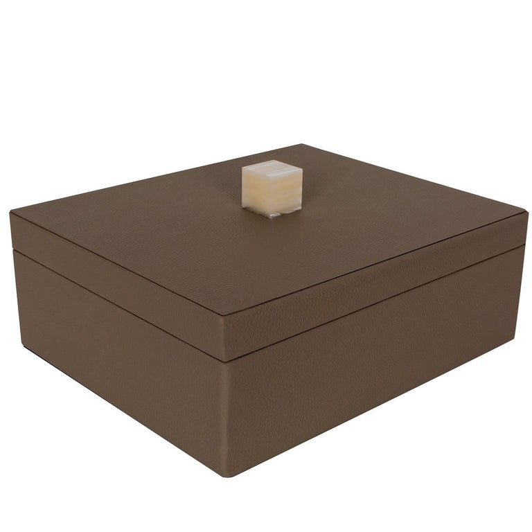 Brown Box with Lid For Sale
