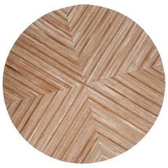 Brown Caramel Round Customizable La Quinta Cowhide Area Floor Rug X-Large