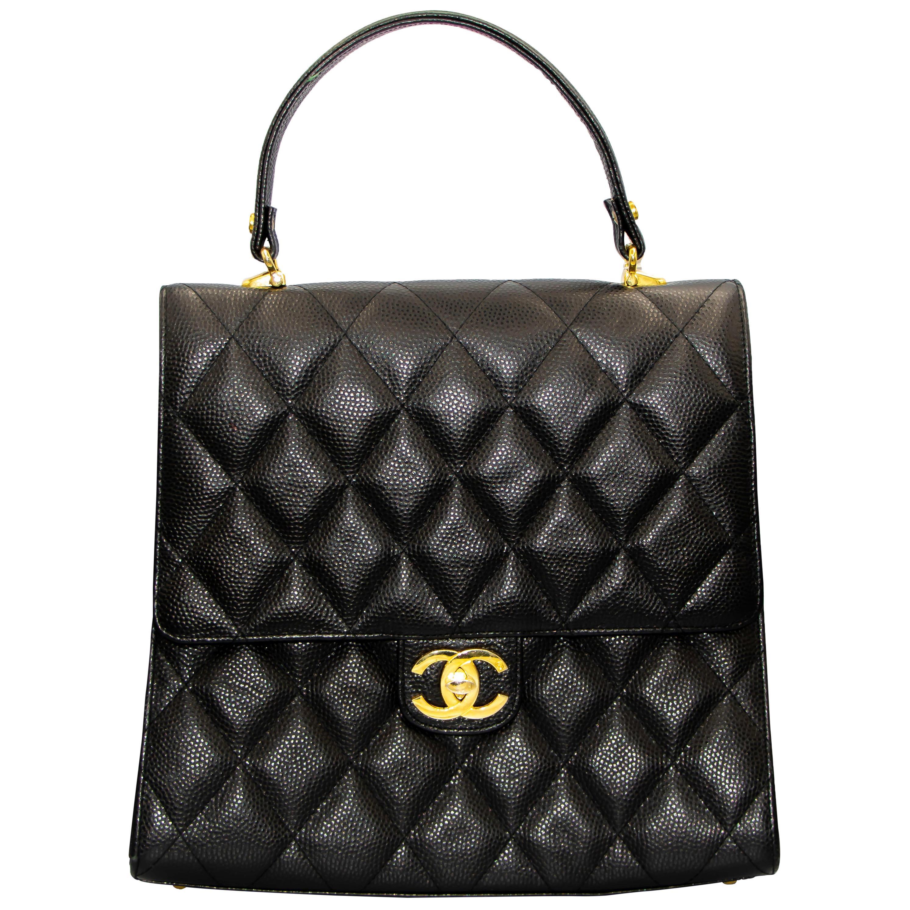 Brown Caviar Leather Chanel Handbag