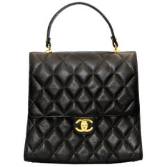 Brown Caviar Leather Chanel Handbag