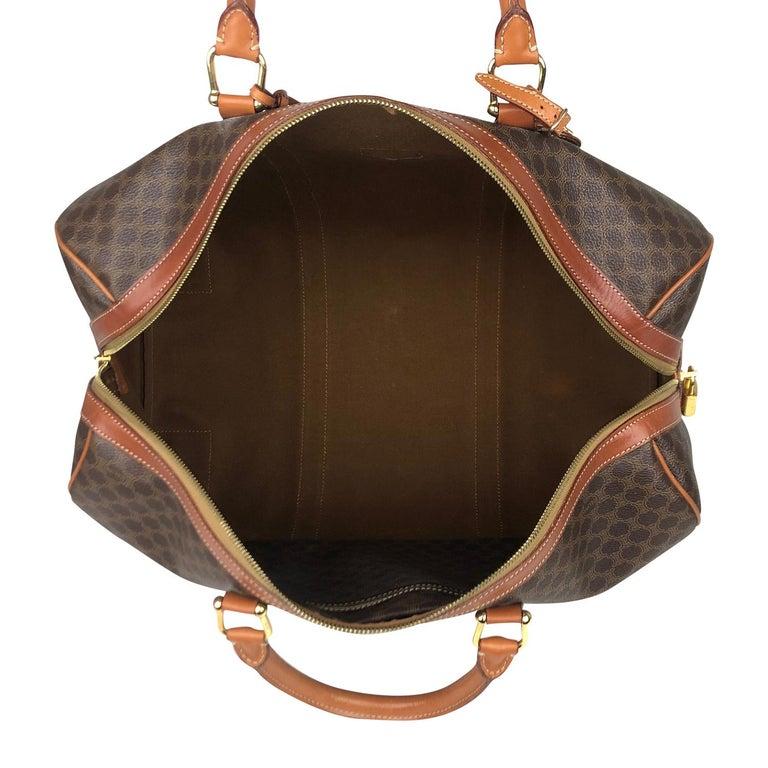 Brown Celine Macadam Weekend Bag For Sale 6