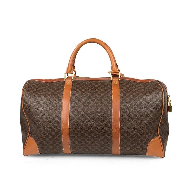 Brown Celine Macadam Weekend Bag In Good Condition For Sale In Sundbyberg, SE