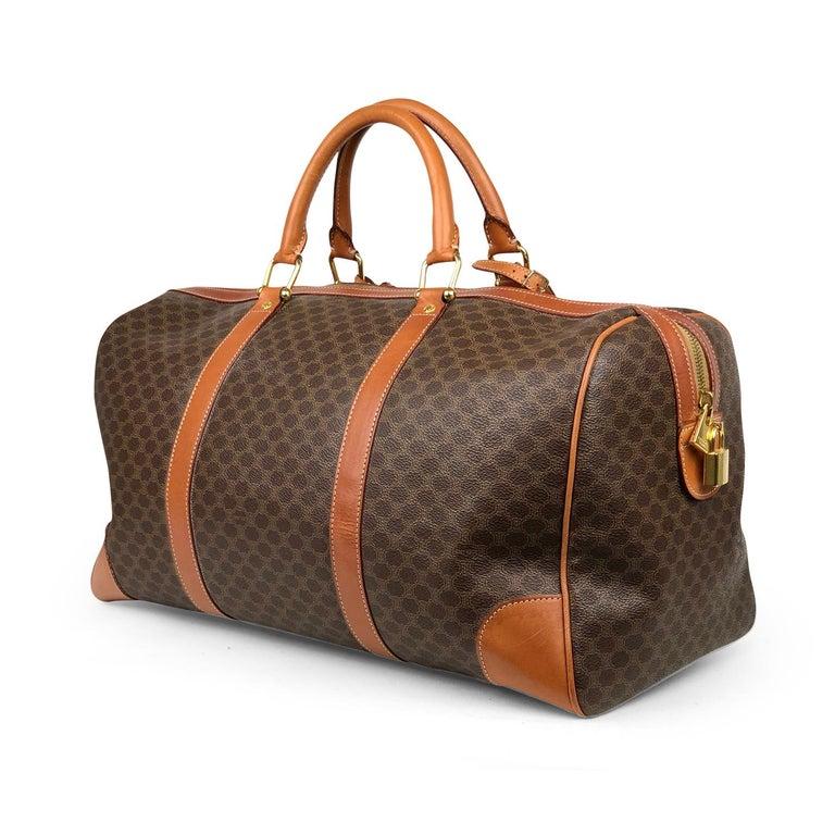 Women's or Men's Brown Celine Macadam Weekend Bag For Sale