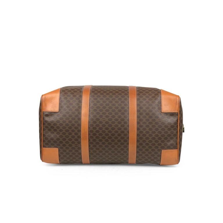 Brown Celine Macadam Weekend Bag For Sale 1