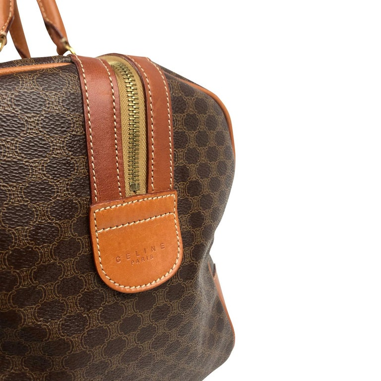 Brown Celine Macadam Weekend Bag For Sale 2