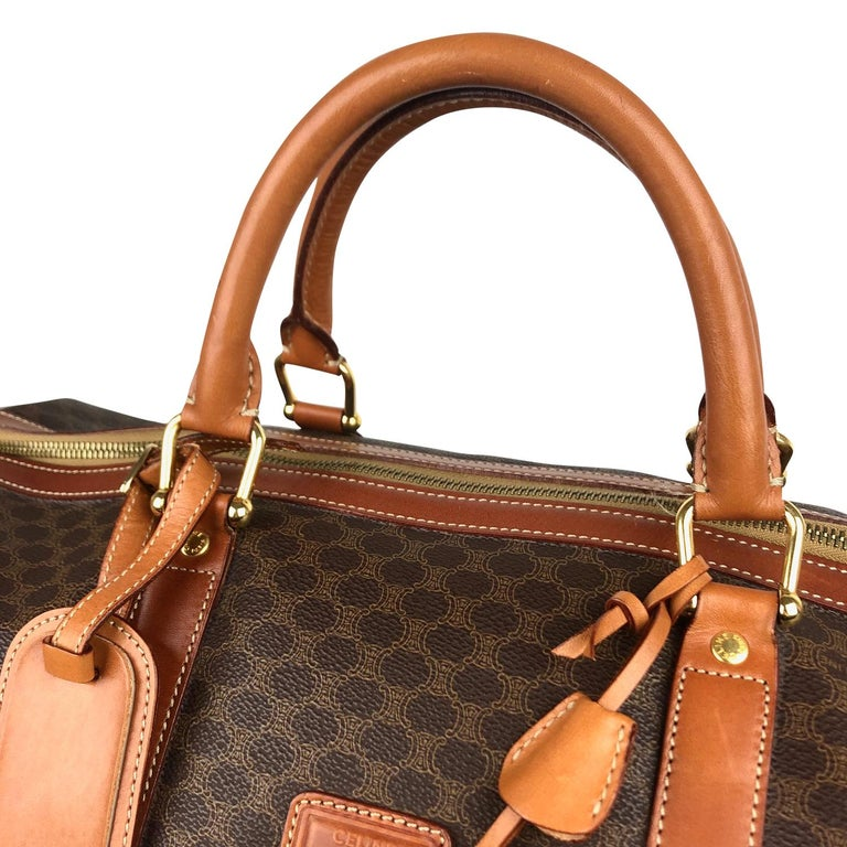 Brown Celine Macadam Weekend Bag For Sale 3