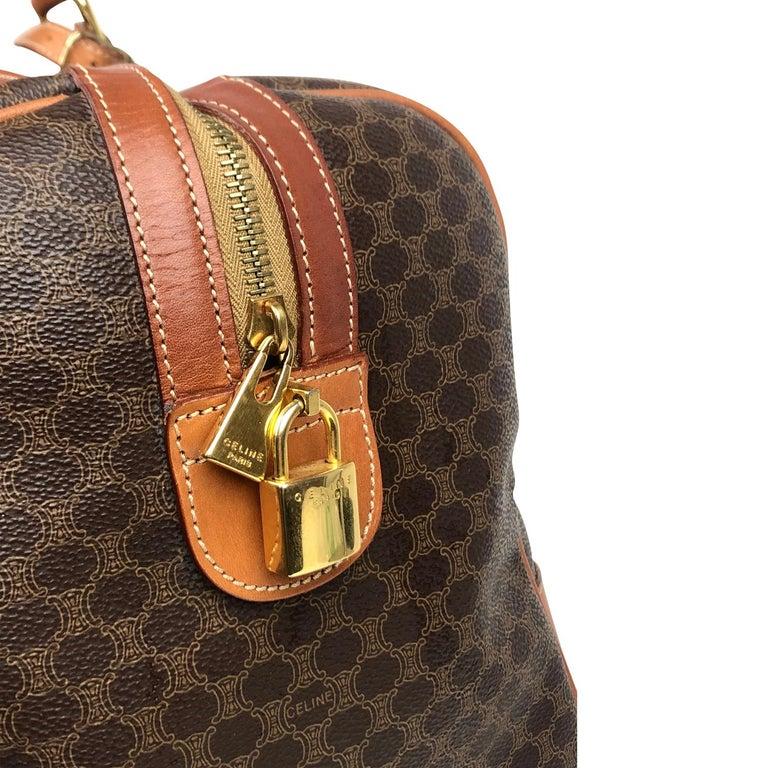 Brown Celine Macadam Weekend Bag For Sale 4