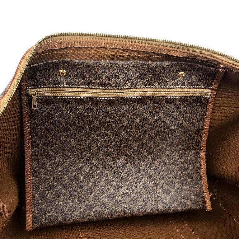 Brown Celine Macadam Weekend Bag For Sale 5