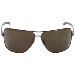 Chanel Brown Aviator Sunglasses