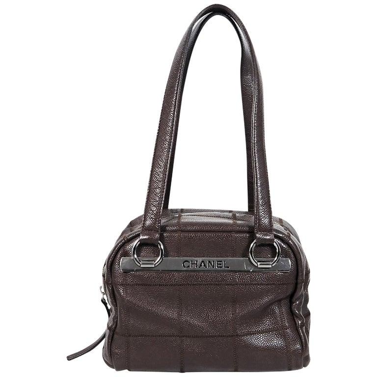 2db5770185c003 Brown Chanel Leather Shoulder Bag For Sale at 1stdibs