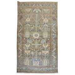 Brown Charcoal Blue Persian Kurd Rug
