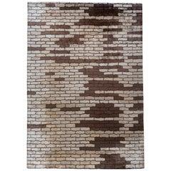 Brown Cobblestones Area Rug