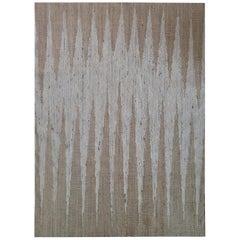 Brown colour Dhurrie Wool & Jute Rug by Cecilia Setterdahl for Carpets CC