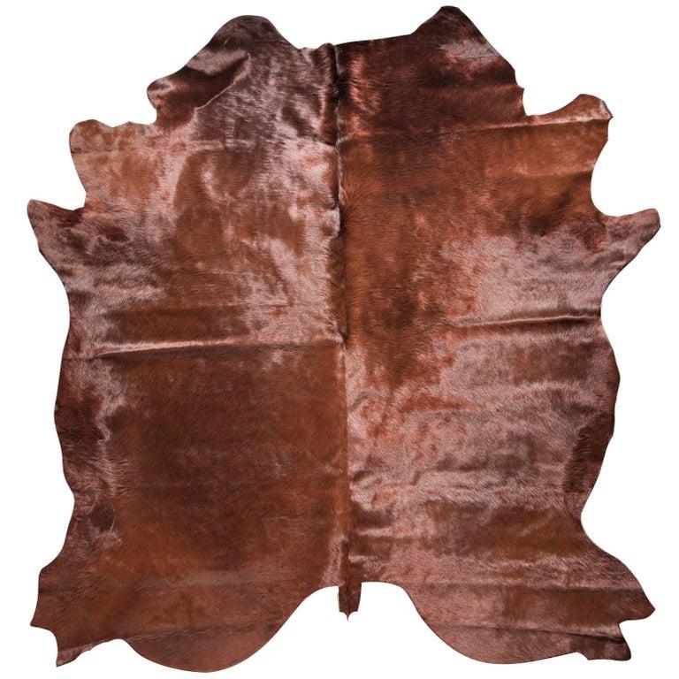 Brown Cowhide Rug For Sale