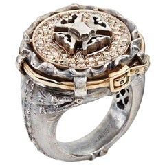 Brown Diamond Maltese Cross Jean Ring