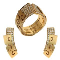 Brown Diamonds 18 Karat Yellow Gold Veil Suite
