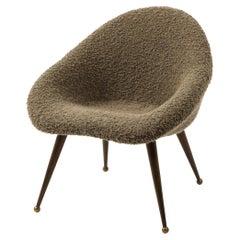 "Brown ""Egg"" Armchair, France, 1960's"