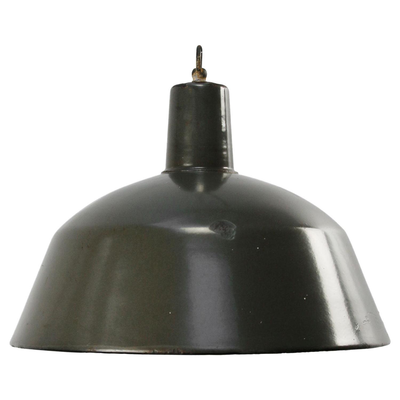 Brown Enamel Vintage Industrial Pendant Lights