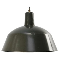 Brown Enamel Vintage Industrial Pendant Lights