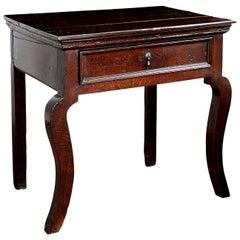Brown English Oak Side Table