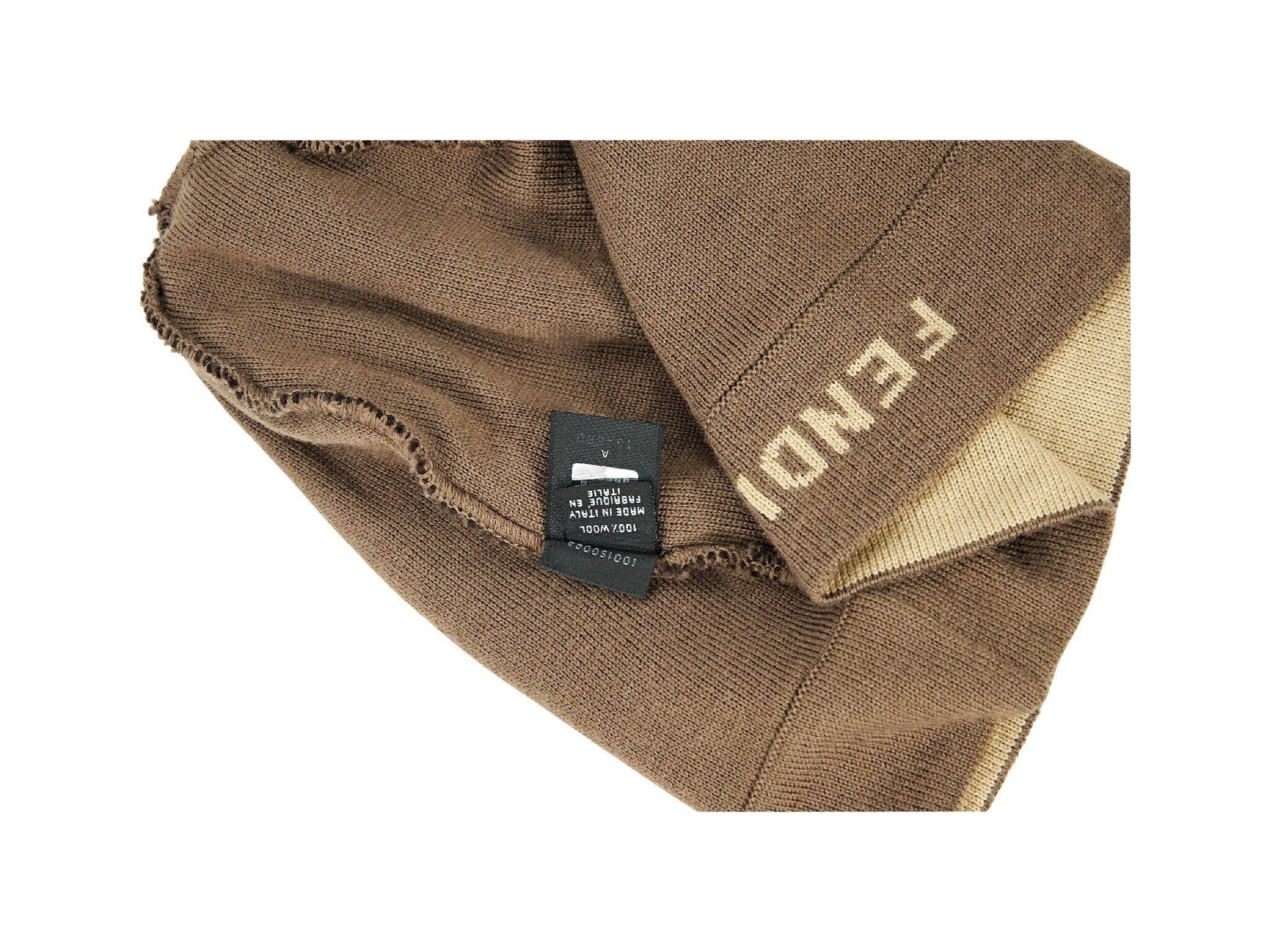 28255dfaa46 Brown Fendi Wool Zucca Beanie For Sale at 1stdibs
