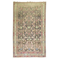 Brown Field Lavender Accent 20th Century Karabagh Rug
