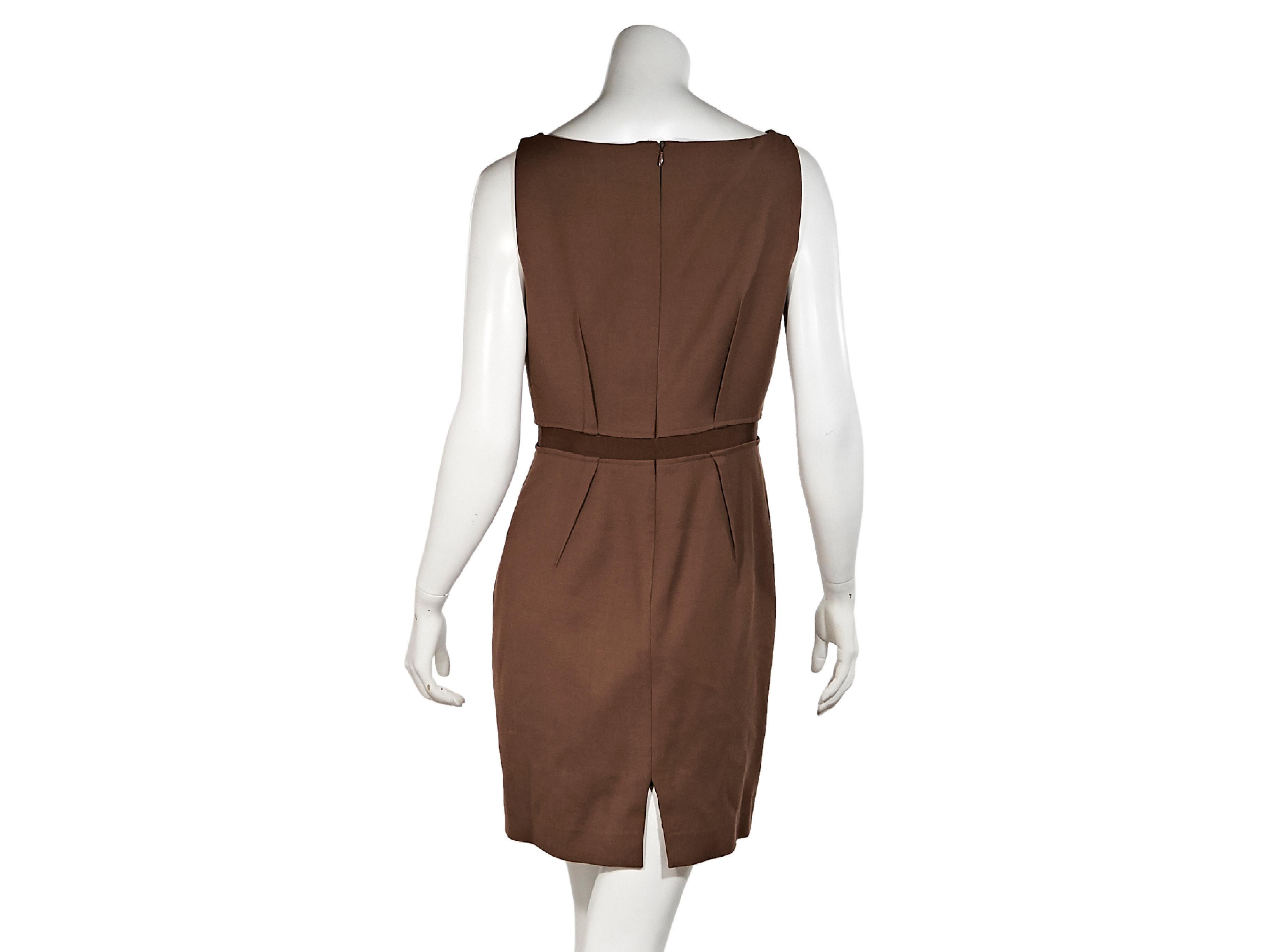 52692db4c5afe4 Brown Giambattista Valli Sleeveless Wool Dress For Sale at 1stdibs