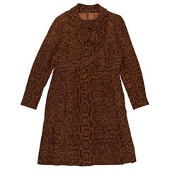 Givenchy Brown Haute Couture Printed Dress