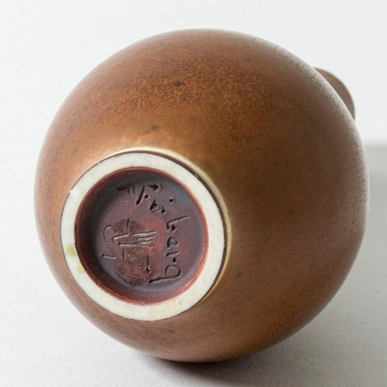 Brown Hare's Fur Stoneware Vase by Berndt Friberg for Gustavsberg, Sweden, 1950s For Sale 1