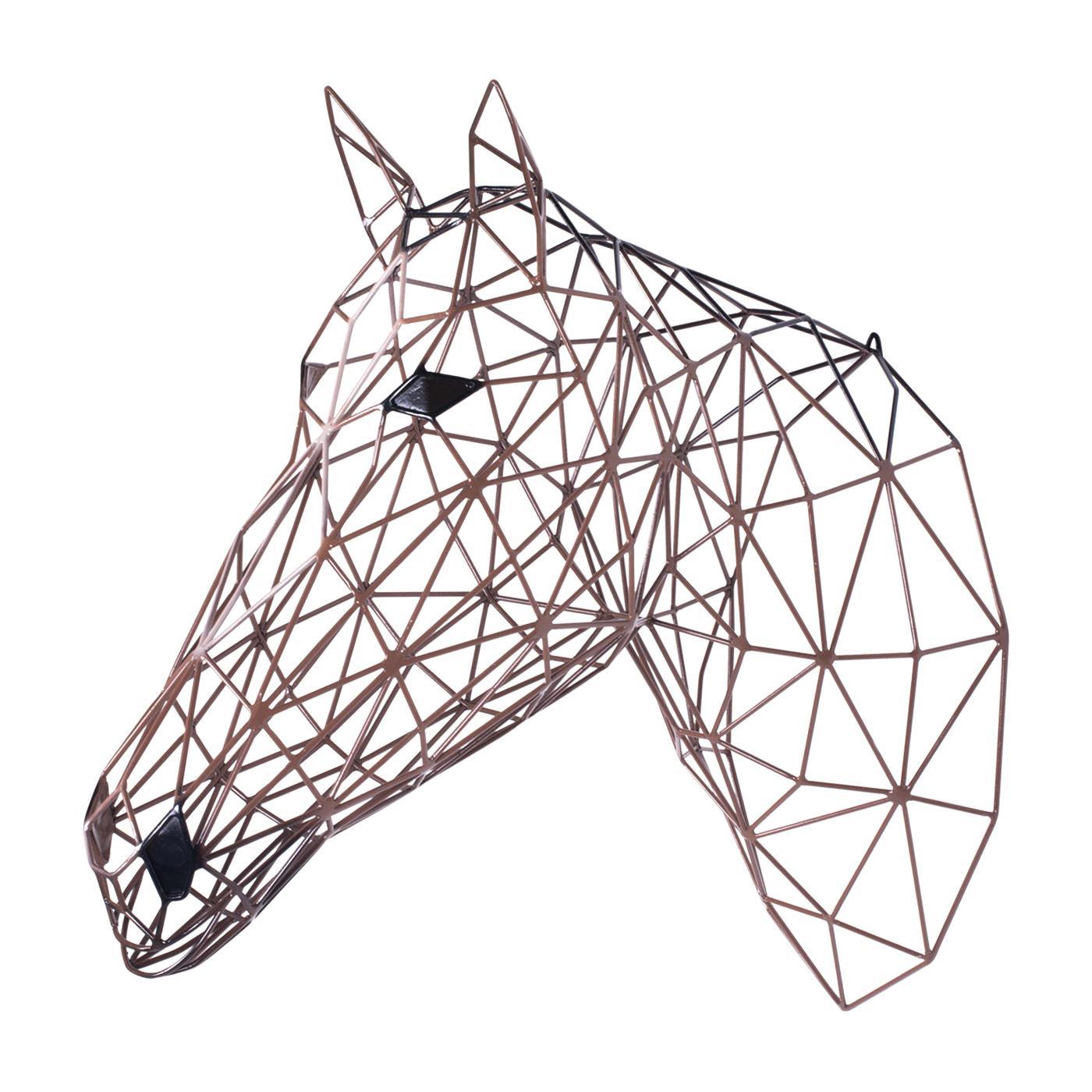 Brown Horse Iron Sculpture