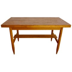 Brown Hungarian Coffee Table in Scandinavian Design, Extendable Table