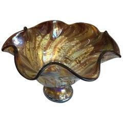 Brown Italian Modern Blown Glass Centrepiece