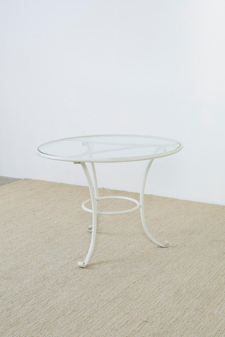 20th Century Brown Jordan Aluminium Garden Patio Dining Table For Sale