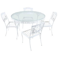 Brown Jordan Aluminum Neoclassical Patio Garden Dining Set