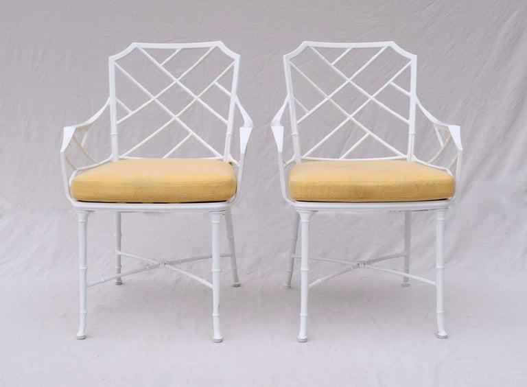 Brown Jordan Calcutta Faux Bamboo Dining Table & Six Chairs 2