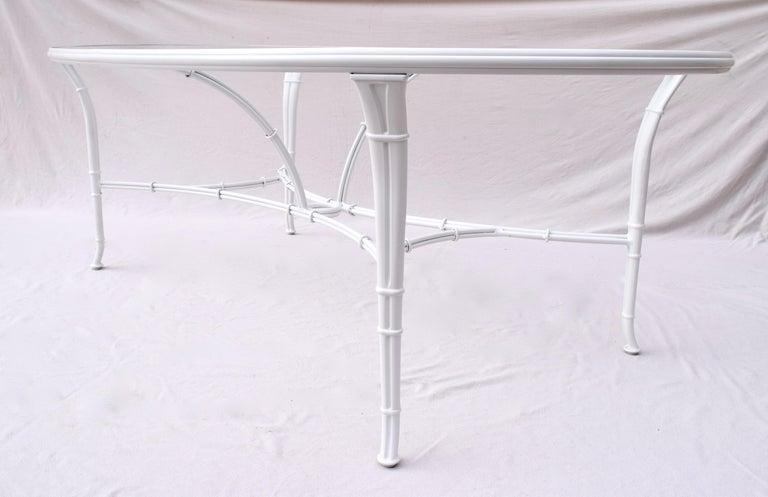 Brown Jordan Calcutta Faux Bamboo Dining Table & Six Chairs 7