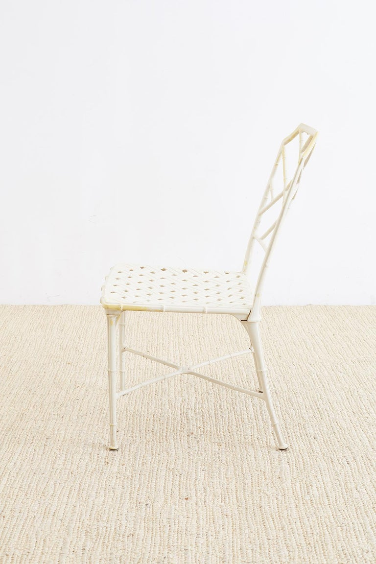 Brown Jordan Calcutta Faux Bamboo Garden Chairs For Sale 2