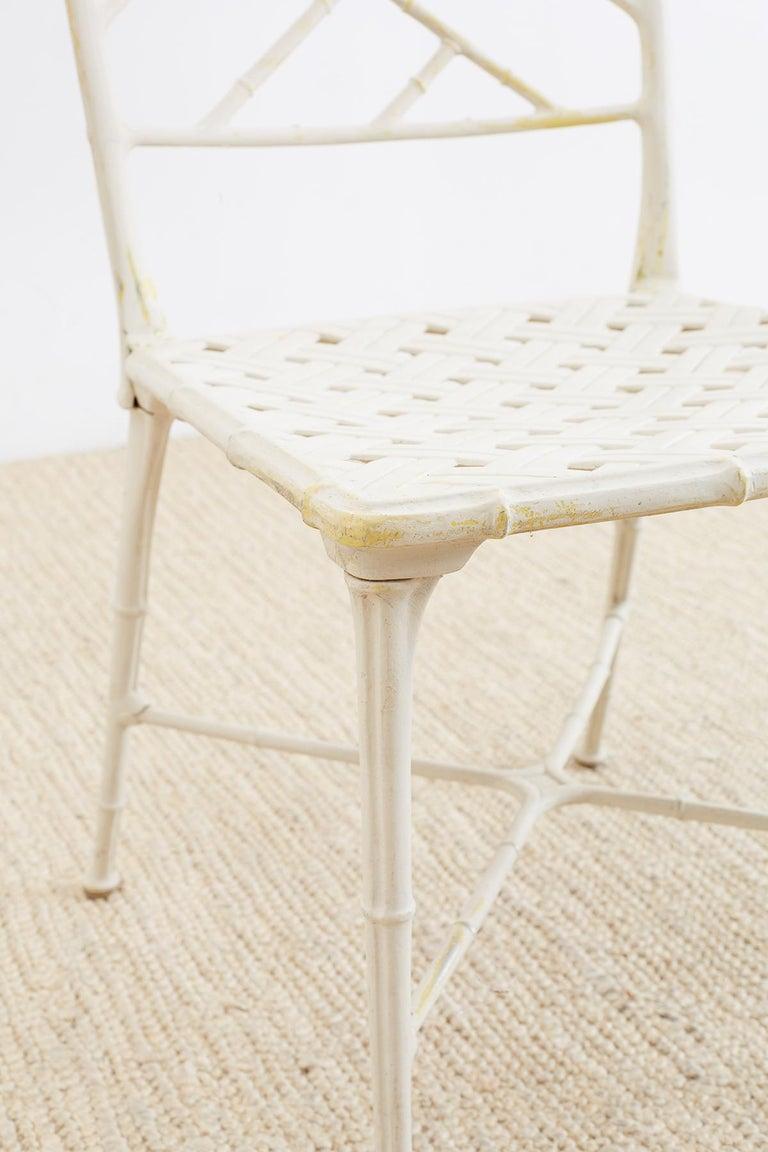 Brown Jordan Calcutta Faux Bamboo Garden Chairs For Sale 9