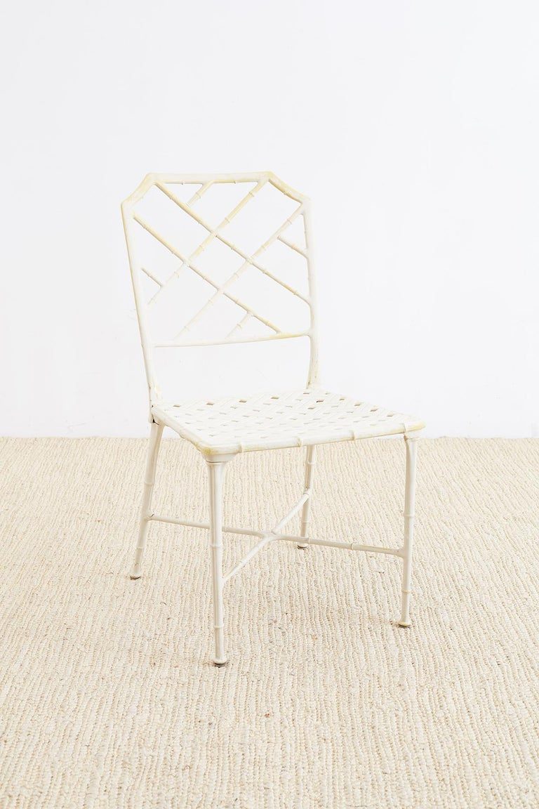 20th Century Brown Jordan Calcutta Faux Bamboo Garden Chairs For Sale