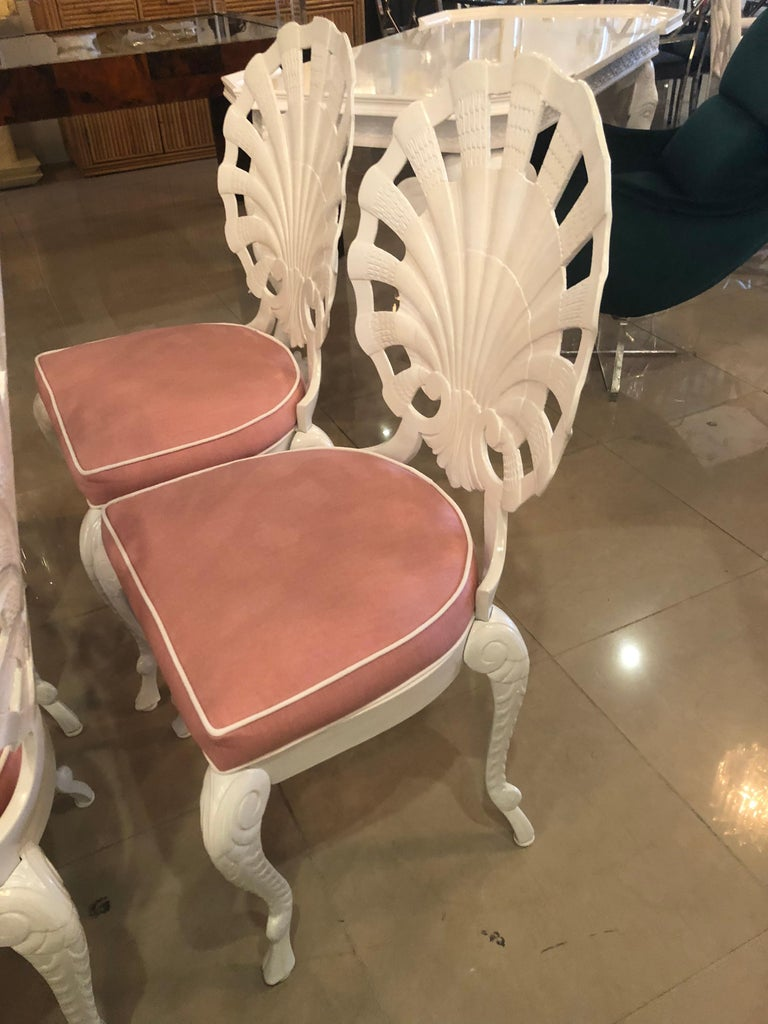 Brown Jordan Grotto Shell Back Dining Chairs Table Patio