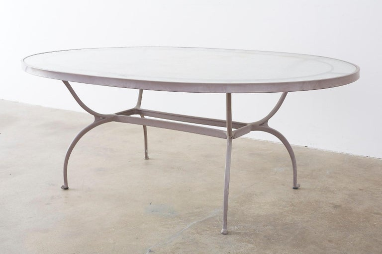 Brown Jordan Neoclassical Style Aluminum Patio Garden Table 4