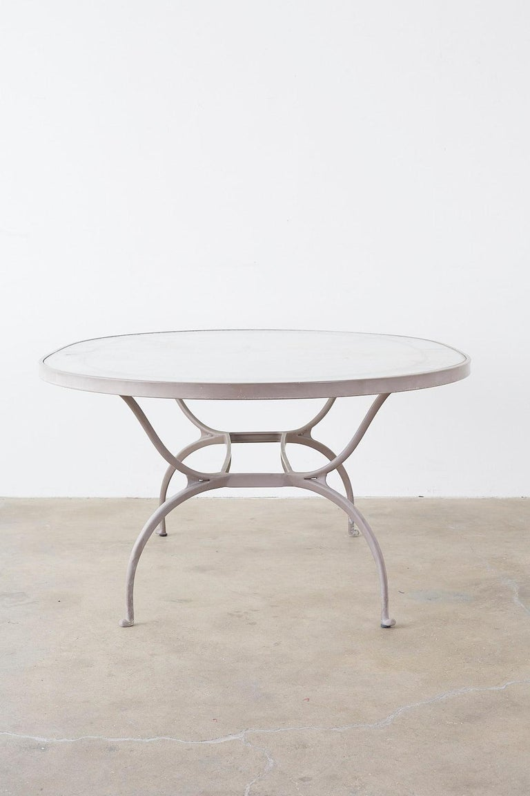 Brown Jordan Neoclassical Style Aluminum Patio Garden Table 8
