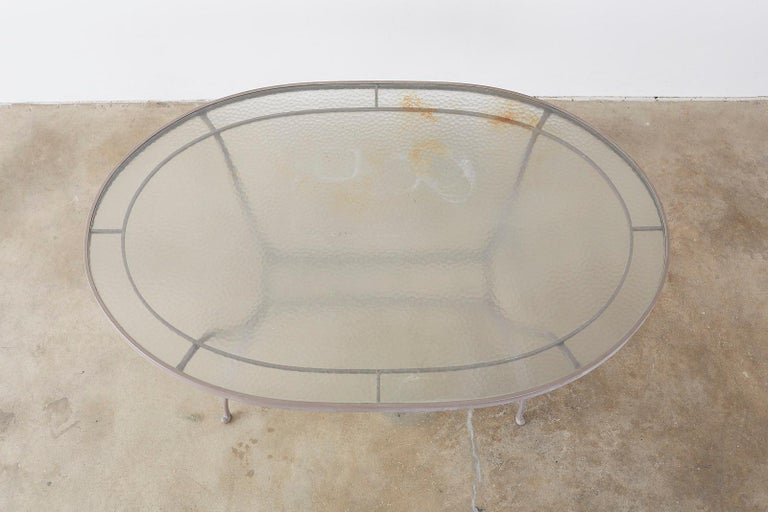 Brown Jordan Neoclassical Style Aluminum Patio Garden Table 1