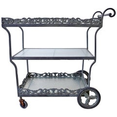 Brown Jordan Neoclassical Style Aluminum Bar Cart Trolley