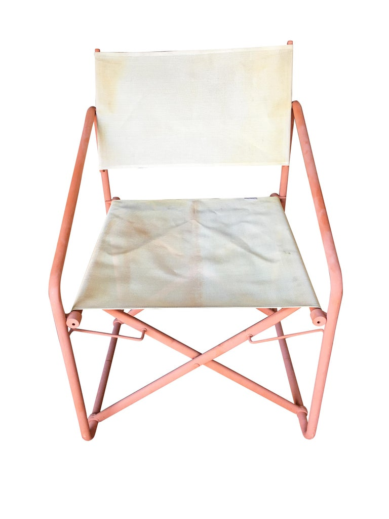 Brown Jordan Nomad Folding Patio Director Chairs And Side Table