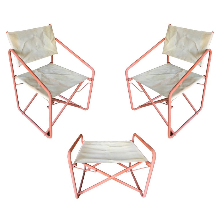 Magnificent Brown Jordan Nomad Folding Patio Director Chairs And Side Table Set Best Image Libraries Barepthycampuscom