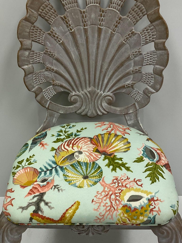 Other Brown Jordan Style Shell Form Grotto Inspired Outdoor Dining Chairs, Set of 4 For Sale