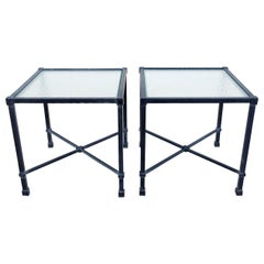 Brown Jordan Venetian Aluminum Cube Drinks Tables